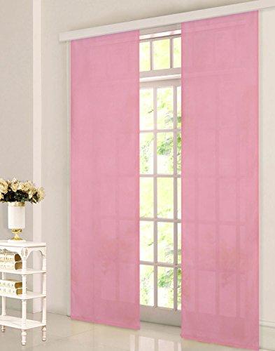 Gardinenbox Flächenvorhang, Schiebegardine Blickdicht matt, Pink, aus Micro Satin (Mikrofaser Gewebe), mit Paneelwagen und Beschwerungsstange -85600-, 85600