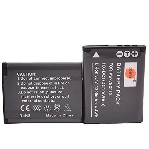 DSTE 2-Pack VBX070 Recargable Batería Compatible para Panasonic HX-DC3GK HX-DC3K HX-WA10EG-A HX-WA10EG-D...