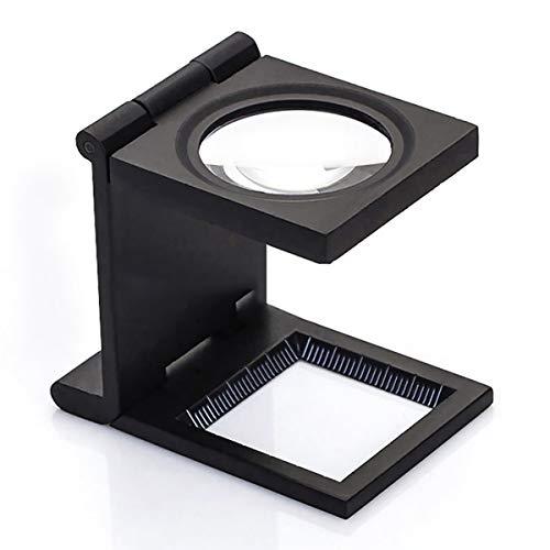 Faltlupe Standlupe Fadenzähler Messlupe Lupe mit Skalierung Inkl zum Lesen Nähen Drucken Reparatur Schwarz