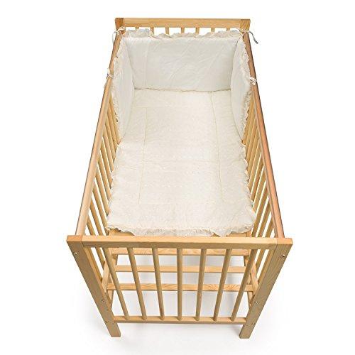Junior Joy geborduurde hoek babybed dekbed en nestje set (crème)