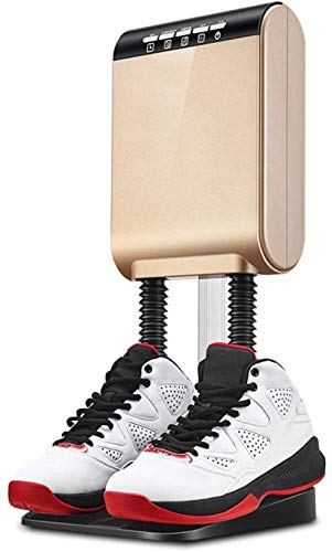 JIEZ Shoe Boot Dryer, Electric Hot Air Warmer Heater with Telescopic Hose and on Wall Mounted Portable Shoe Boot Dryer, Gold,Gold