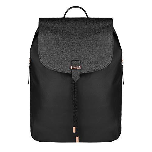 Lipault - Plume Avenue Backpack - 15' Laptop Over Shoulder Purse Bag for Women - Jet Black