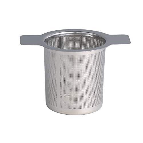 LQKYWNA Strumento Filtro a Foglie Allentate con Filtro a Tazza in Metallo per Infusore da tè in Acciaio Inossidabile (Senza Copertura)