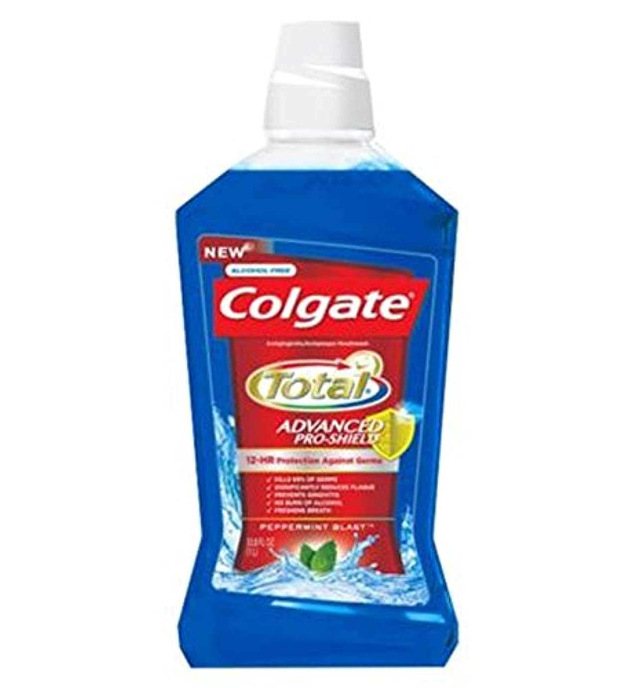 ボトルセッティング普通にColgate Mouthrinse Total Blue 500ml - コルゲートの口内洗浄剤の総ブルー500ミリリットル (Colgate) [並行輸入品]