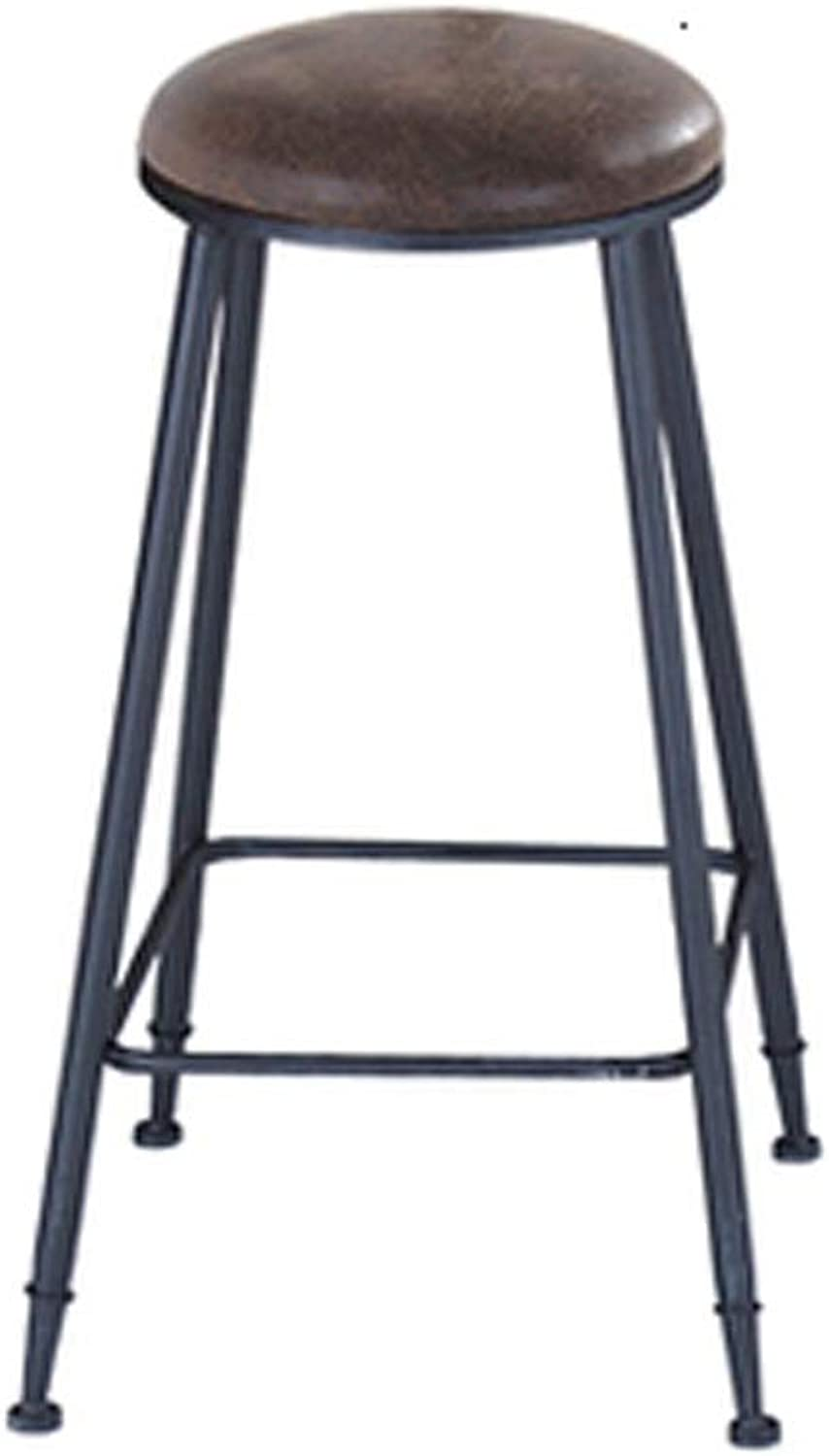 Barstool Bar stools American Wrought Iron stools stools high stools with Cushions Without Cushions 2 Kinds (color   B)