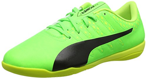 PUMA Evopower Vigor 4 It, Botas de fútbol para Hombre, Verde (Green Gecko Black-Safety Yellow 01), 46 EU