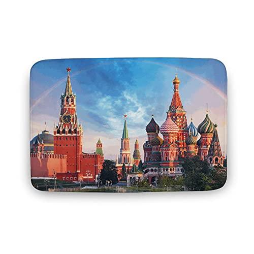 Moskou Kremlin badmatten voor badkamer, binnenmatten, tapijten voor entryway geen zijde, wasbare vloermat, vloermat, vloermat, badkamerdecoratie voor keuken, slaapkamer binnen