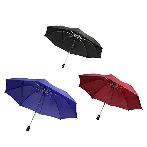 Wonderdry® Compact Umbrella Regenschirm mit Umstülptechnik in DREI Original aus TV-Werbung (Schwarz)