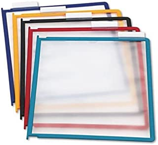 DURABLE Replacement Panels for Reference System, Assorted Colors, 5-Pack, INSTAVIEW Design (554800)