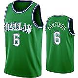 Porzingis - Camisetas de baloncesto para hombre, 2021 edición de la ciudad ropa deportiva, verde, M/L