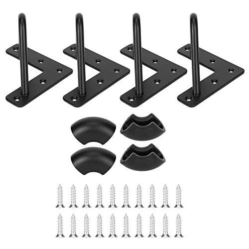 4 piezas de patas de mesa de metal en forma de U muebles de patas de mesa de hierro forjado robustos para mesa moderna(Trumpet+Accessories)