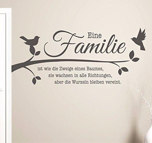 tjapalo® 100x48 S-pkm208 Wandtattoo Familie ist wie die Zweige eines Baumes Wandaufkleber Sprüche Wohnzimmer