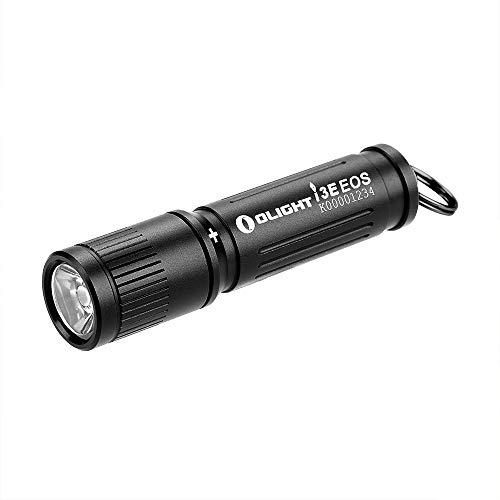OLIGHT I3E EOS Linterna LED Mini EDC Linterna Llavero 90 Lúmenes 44m Impermeable IPX 8 Pila Alcalina AAA Linterna Pequeña para Niños Camping y Uso en Cualquier Lugar