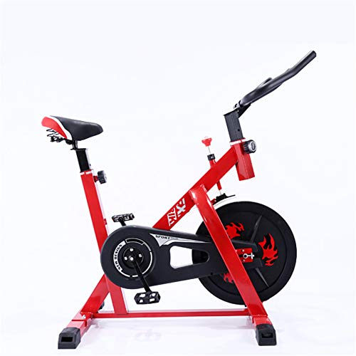 ZHANGY Bicicleta de Ciclismo de Interior Bicicleta estática para el hogar Equipo de Deportes de Interior Bicicleta de Spinning Ultra silenciosa Fitness Master Workout Machine Carga 150Kg,Rojo