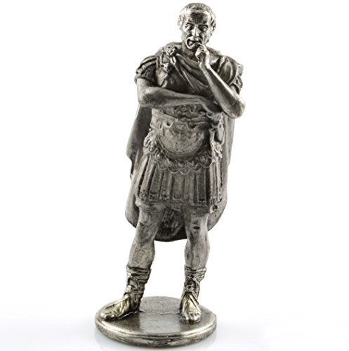 Toy Soldier Gaius Julius Caesar 1st Century BC Metal Sculpture. Collection 54mm (Scale 1/32) Miniature Figurine. Tin Toy Soldiers