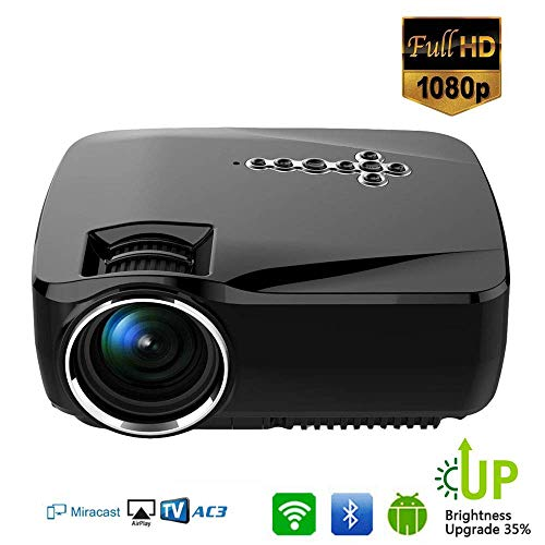 Led-videoprojector Mini Video Beamer 1200 Lumen 1080P Intelligente WiFi Wireless Bluetooth Multimedia Beamer, ondersteuning HDMI VGA AV USB
