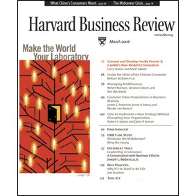 Harvard Business Review, March 2006 cover art