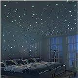 Fluorescenti 3D Stelle Adesivi da Parete - 326 Stelle Adesivi Kit XL (10.5cm) Fluorescenti e Brillanti al Buio - per Decorazioni Cameretta Bambini -...
