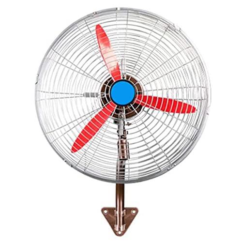 qwert Ventilador de Pared Comercial, 26 Pulgadas Ventiladores Industriales Grandes de Pared, Ventilador Oscilante de Almacén Dormitorio Restaurante, 3 Velocidades, (tamaño: 70 cm X 85 cm)