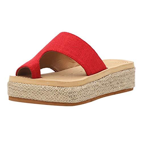 Luckycat Sandalias para Mujer de Dedo Verano 2020 Plataforma Cuña Chanclas para Mujer Playa Comodas Zapatos de Maternidad Mules Fiesta Sandalias Mujer Vestir Elegantes Tacon Medio