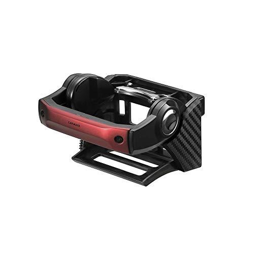 カーメイト 車用 ドリンクホルダー ダンパー内蔵 エアコン取付 カーボン調 メタリックレッド DZ436