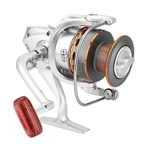 Carretes de Pesca de Lanzado, Rueda de Pesca Giratoria Carrete de Pesca Cabezal de Metal Serie DX Carrete de Plástico reemplazo para Pesca de Agua Dulce y Salada(DX3000)