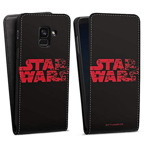 DeinDesign Flip Hülle kompatibel mit Samsung Galaxy A8 Duos 2018 Tasche Hülle Star Wars Logo Merchandise Fanartikel