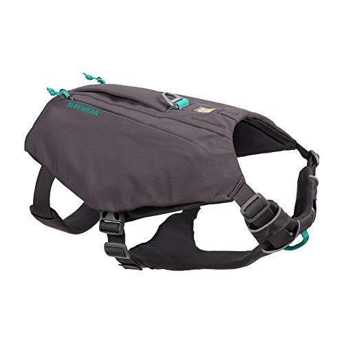 Ruffwear Switchbak Hundegeschirr mit Taschen, Ganztägiger Komfort mit Eingebauten Taschen Für Kurze Tagesausflüge und Alltägliche Aktivitäten, Mittelgroße Hunderassen, Granite Gray