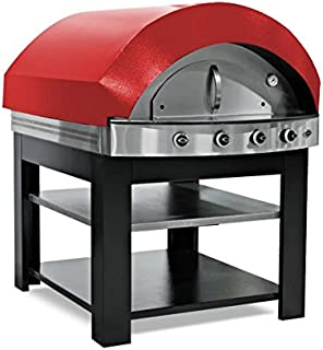 Horno de gas para pizza – Rojo – con base