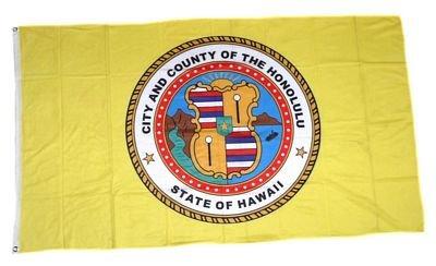 Fahne / Flagge USA - Honolulu Hawaii NEU 90 x 150 cm