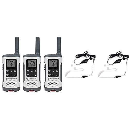 Discover Bargain Motorola T260TP Talkabout Radio, 3 Pack Bundle with Motorola 1518 Surveillance Head...
