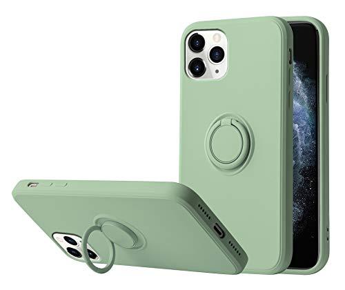 Funda para iPhone 12/12 Pro Apple Case,Fundas iPhone 12/12 Pro Silicona Antigolpes Carcasa Gel de sílice líquido Compatible con Posterior Magnético Iman (iPhone 12 Pro, Verde Claro)