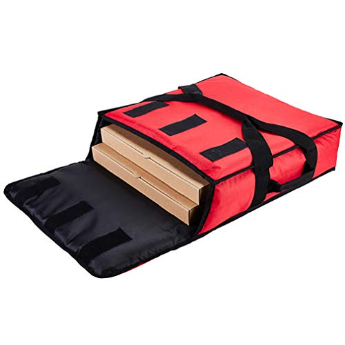 "YOPRAL Insulated Pizza Bag, Thermal Pizza & Food Delivery Bags Commercial Professional Warmer Carrier Pizza Boxes Moisture Free for 2-16"" or 2-18""(Red, 20""X20""X6"")."