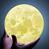 9 inch Moon Lamp for bedrooms, Extra Large 6 inch,7.1 inch,10 inch and11 inch Moon Light Lamps, Touch Control and Remote Control with LED 16 Colors.