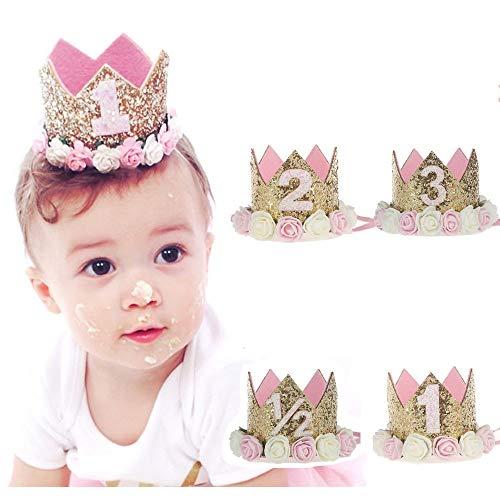 Je vais agir maintenant Couronne de Princesse Tiara pour bébé, Premier Anniversaire de bébé...