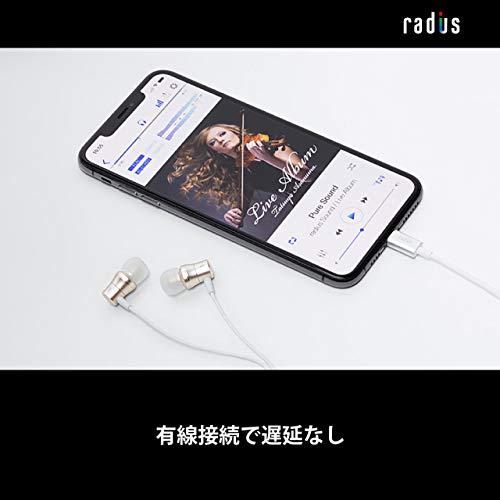 radius(ラディウス)『NeシリーズiPhone用Lightningイヤホンアルミハウジングモデル(HP-NEL21)』