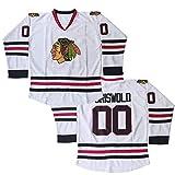 Kekambas #00 Clark Griswold X-Mas Christmas Vacation Mens Movie Hockey Jersey White Stitched Size M
