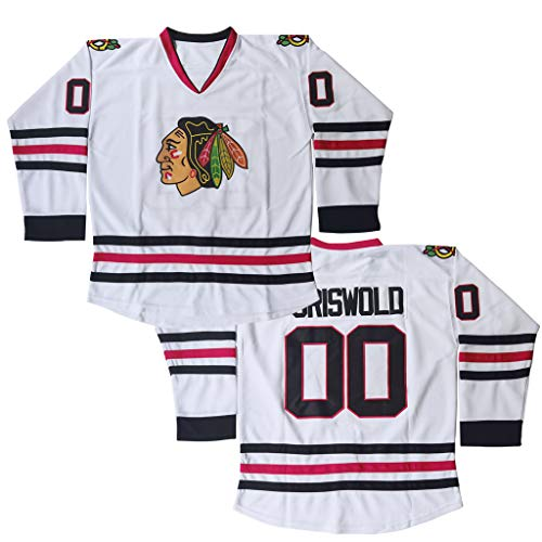 #00 Clark Griswold X-Mas Christmas Vacation Mens Movie Hockey Jersey White Stitched Size XL