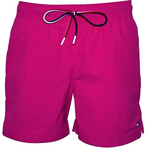 Tommy Hilfiger Men's Classic Swim Shorts, Fuschia Purple Large Fuschia Purple