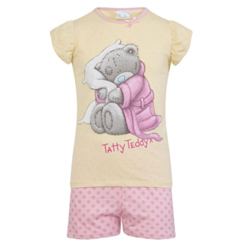 Tatty Teddy Official Gift Baby Toddler Girls Short Pajamas 18-24 Months Yellow