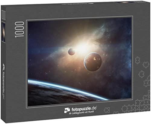 fotopuzzle.de Puzzle 1000 Teile Schönheit des Weltraums, Planeten, Sterne und Galaxien im endlosen Universum