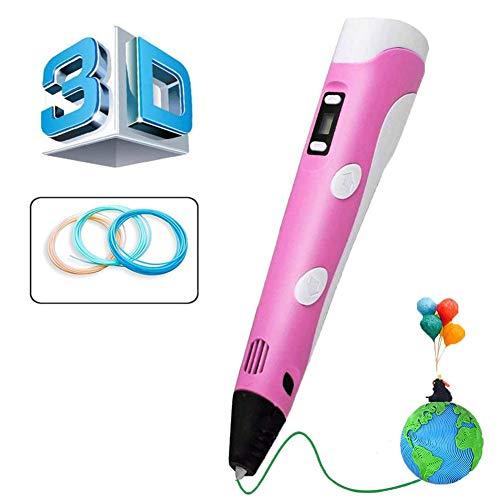 VABOO Penna 3D, 3D Penna Stampa con Schermo LCD Intelligente e Temperatura Regolabile/velocità, Penna 3D Professionale Compatibile con Filamento PLA/ABS, Regalo per Bambini, Adulti
