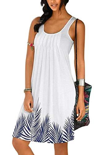 Yuson Girl Vestiti Donna,Copricostume Donna Mare Floreale Abiti Donna Estivi Estate Casual Senza Maniche Corte Spiaggia Vestiti da Vacanza,Abito da Spiaggia Sexy Beach Dress