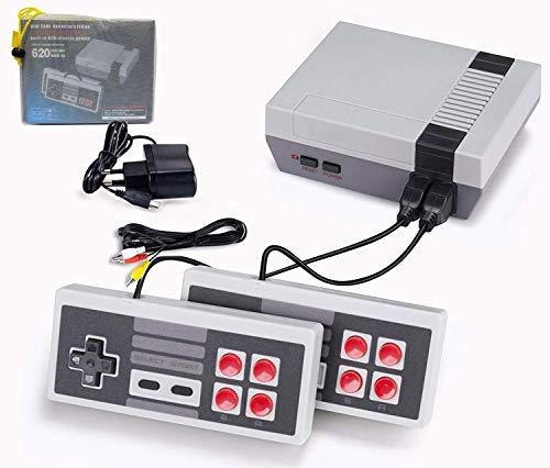 Retro Console per Giochi,Mini Classic Console Gioco per Famiglie-con 620 Video Gioco Giochi ,Plug & Play AV Uscita