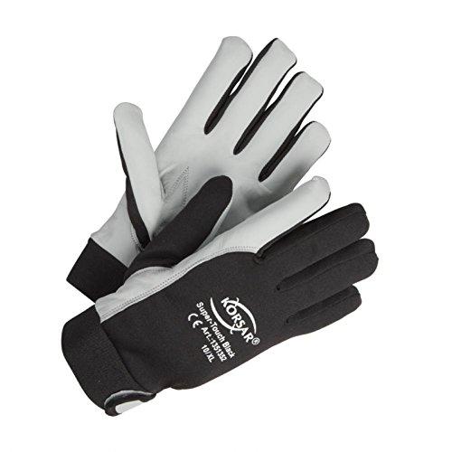 Montagehandschuhe Präzisionshandschuhe Handschuhe Super-Touch - Größe 9 - schwarz