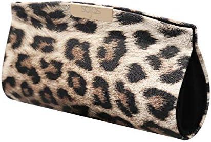 SOJOS Sunglasses Goggles Case Hard Shell Eyewear Glasses Case Leopard Print PU Bag SA505 product image