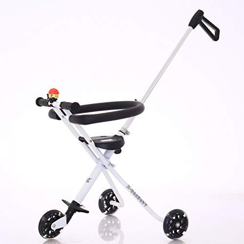 Dreirädrige Kinderwagen Kinderwagen,Tragbare pedal kinderwagen falten Geeignet für 3-7 jahre alt-D
