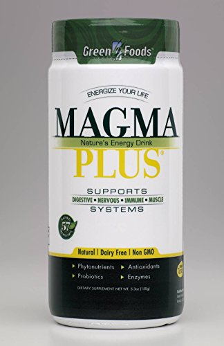 Green Foods Corporation Magma Plus Barley Grass Juice Powder, 5.3 Ounce - 3 per case.