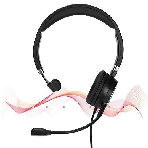 Centro de atención telefónica Servicio al cliente Teléfono con auriculares, tubo de rotación de 300 grados Escritorio del operador Teléfono de oficina Compatible con teléfonos de centro de llamadas/te