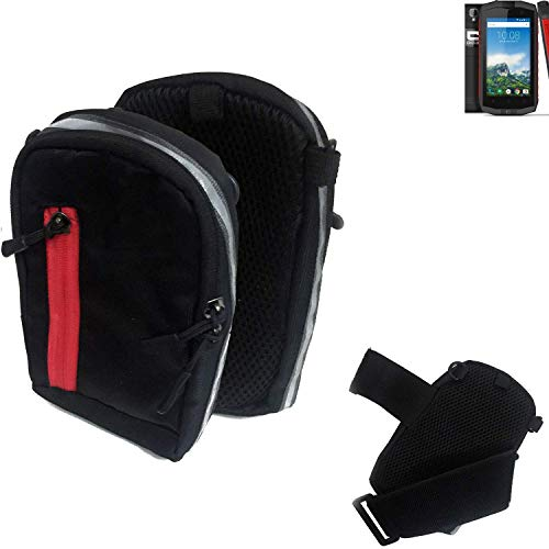 K-S-Trade® Outdoor Gürteltasche Umhängetasche Kompatibel Mit Crosscall Trekker-M1 Core Schwarz Handytasche Case Travelbag Schutzhülle Handyhülle